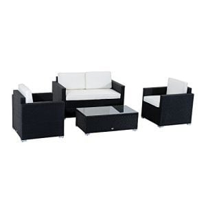 Outsunny-4-Piece-Cushioned-Outdoor-Rattan-Wicker-Sofa-Sectional-Patio-Furniture-Set-0-300x300 Wicker Patio Furniture Sets