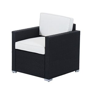 Outsunny 4 Piece Cushioned Outdoor Rattan Wicker Sofa Sectional Patio Furniture Set 0 4 300x300
