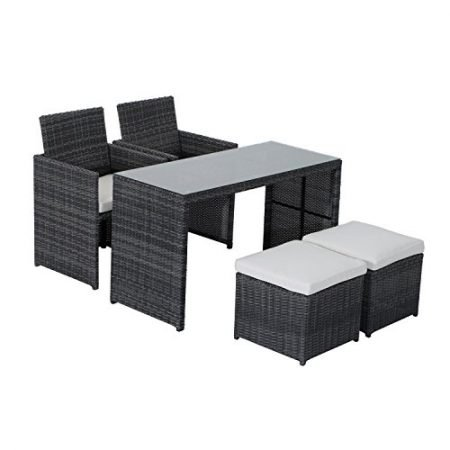 Outsunny-5-Piece-Outdoor-Rattan-Wicker-Furniture-Set-0-450x450 Wicker Patio Dining Sets