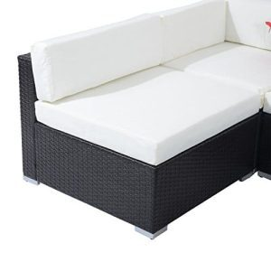 Outsunny 7 Piece Outdoor Patio PE Rattan Wicker Sofa Sectional Furniture Set 0 3 300x300