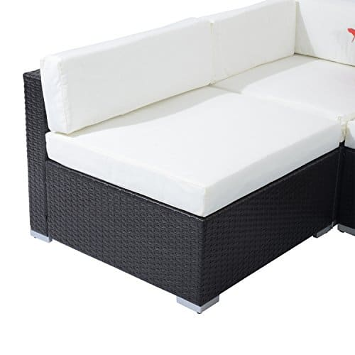 Outsunny 7 Piece Outdoor Patio PE Rattan Wicker Sofa Sectional Furniture Set 0 3