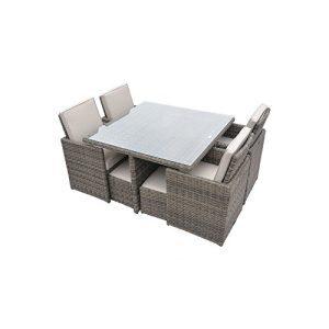 Radeway 9 PCS11 PCS Patio Furniture Dining Set Garden Outdoor Patio Furniture Sets Wicker Out Door Patio Cube Sets W Chocolate Mix Rattan Sand Cushions 0 1 300x300