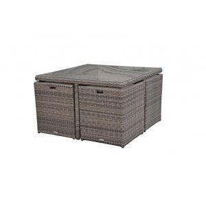 Radeway 9 PCS11 PCS Patio Furniture Dining Set Garden Outdoor Patio Furniture Sets Wicker Out Door Patio Cube Sets W Chocolate Mix Rattan Sand Cushions 0 4 300x300