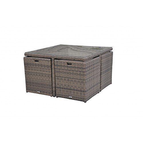 Radeway 9 PCS11 PCS Patio Furniture Dining Set Garden Outdoor Patio Furniture Sets Wicker Out Door Patio Cube Sets W Chocolate Mix Rattan Sand Cushions 0 4