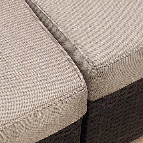 Reddington Outdoor Wicker Sectional Seating Sofa Set With Cushions 0 2