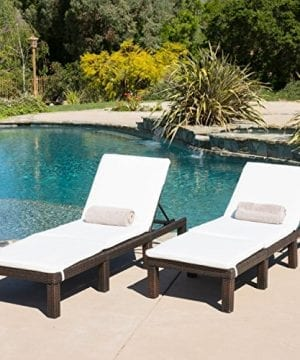 Set-of-2-Estrella-Outdoor-PE-Wicker-Adjustable-Chaise-Lounge-Chairs-w-Cushions-0-300x360 50+ Wicker Chaise Lounge Chairs