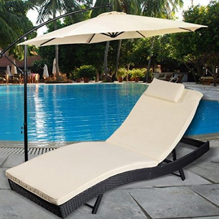 Tangkula-Adjustable-Pool-Chaise-Lounge-Chair-Outdoor-Patio-Furniture-Pe-Wicker-Wcushion-0-450x450 Wicker Chaise Lounge Chairs