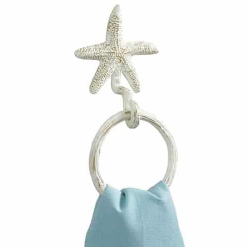 Towel Ring Hook Tropical Nautical Starfish 0