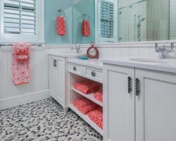 affordable-bathroom-beach-decor-ideas 100+ Best Beach Bathroom Decorations 2020