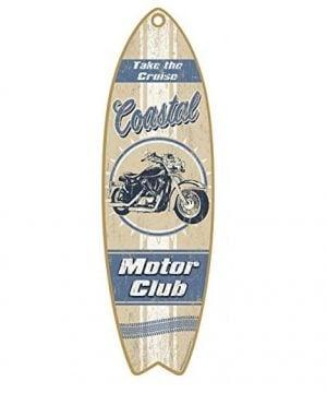 coastal-motor-club-wooden-sign-300x360 100+ Wooden Beach Signs & Wooden Coastal Signs