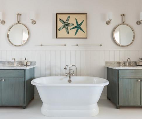 simple-bathroom-beach-decor-ideas 100+ Best Beach Bathroom Decorations 2020
