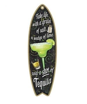 tequila-wooden-beach-sign-surfboard-300x360 Surf Decor & Surfboard Decorations