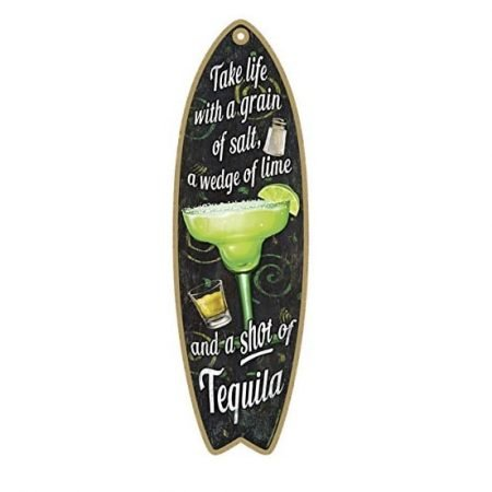 tequila wooden beach sign surfboard