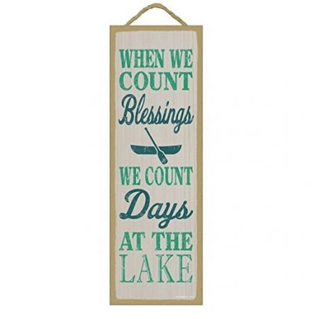 when-we-count-blessing-lake-wooden-sign-450x450 The Best Wooden Beach Signs You Can Buy