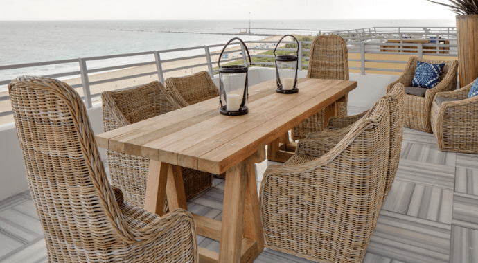 outdoor beach wicker furniture