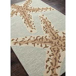5 X 75 Ash Gray And Sandstone Tan Grant Sea Star Outdoor Area Throw Rug 0 0 300x300