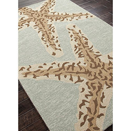 5 X 75 Ash Gray And Sandstone Tan Grant Sea Star Outdoor Area Throw Rug 0 0