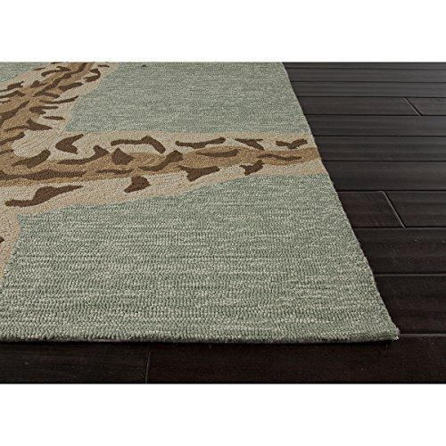 5 X 75 Ash Gray And Sandstone Tan Grant Sea Star Outdoor Area Throw Rug 0 1