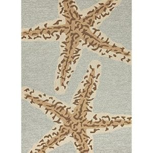 5 X 75 Ash Gray And Sandstone Tan Grant Sea Star Outdoor Area Throw Rug 0 300x300