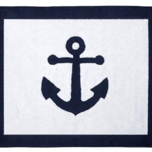 Anchors Away Nautical Navy And White Accent Floor Rug 0 300x300