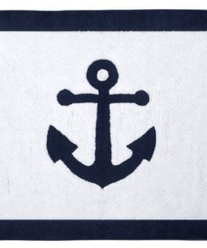 Anchors Away Nautical Navy And White Accent Floor Rug 0 300x360