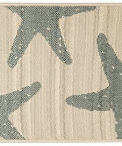 Bacova-Starfish-Accent-Rug-One-Size-0-247x296 Beach Rugs and Beach Area Rugs