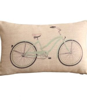 Clear Bicycle Print Rectangular Throw Pillow Covers 30CMx45CM Lumbar Cushions Linen Decorative Pillow Covers 0 300x360