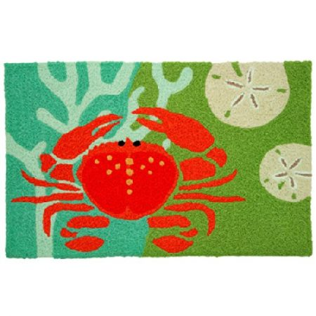 Coastal-Red-Crab-with-Coral-Jellybean-Accent-Area-Rug-0-450x450 Beach Rugs and Beach Area Rugs