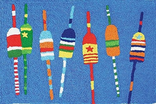 Colorful-Fishing-Buoys-Coastal-Washable-21-X-33-Area-Accent-Jellybean-Rug-0 Beach Rugs and Beach Area Rugs