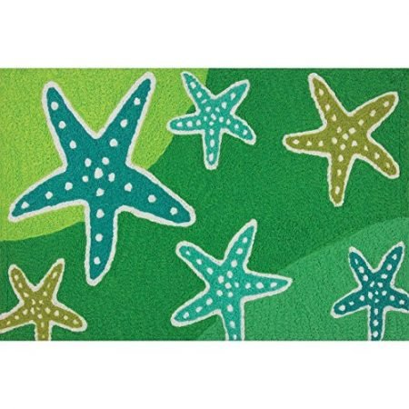 Cool-Starfish-Stream-Shades-of-Green-Washable-21-X-33-Area-Accent-Jellybean-Rug-0-450x450 Beach Rugs and Beach Area Rugs