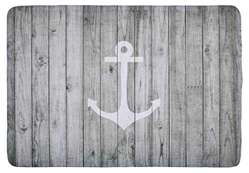 Floor-Mat-Vintage-White-Nautical-Anchor-on-Gray-Wood-Print-Non-slip-Rugs-Carpets-Alfombra-for-Indoor-Outdoor-0 Beach Rugs and Beach Area Rugs