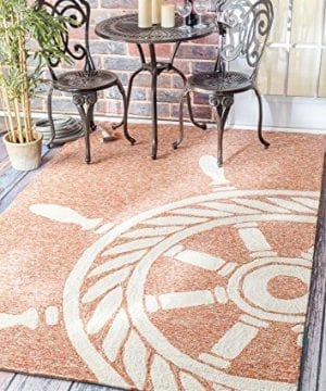 Handmade Nautical Ship Wheel Indoor Outdoor Area Rugs 0 0 300x360