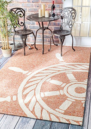 Handmade Nautical Ship Wheel Indoor Outdoor Area Rugs 0 0