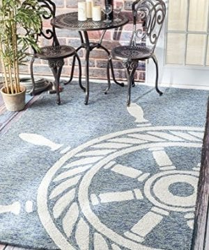 Handmade Nautical Ship Wheel Indoor Outdoor Area Rugs 0 1 300x360