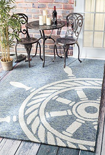 Handmade Nautical Ship Wheel Indoor Outdoor Area Rugs 0 1
