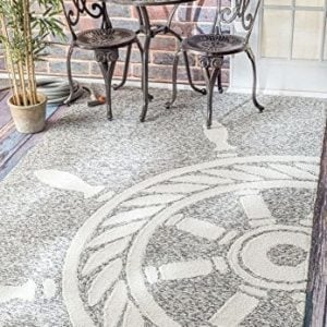 Handmade Nautical Ship Wheel Indoor Outdoor Area Rugs 0 300x300