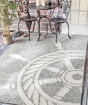 Handmade Nautical Ship Wheel Indoor Outdoor Area Rugs 0 300x360