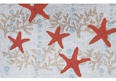 Homefires-Accents-Indoor-Rug-22-by-34-Inch-Starfish-and-Ocean-Coral-0-450x316 Beach Rugs and Beach Area Rugs