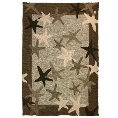 Homefires-Starfish-Field-3-Feet-by-5-Feet-Indoor-Outdoor-Hand-Hooked-Area-Rug-0-450x450 Beach Rugs and Beach Area Rugs