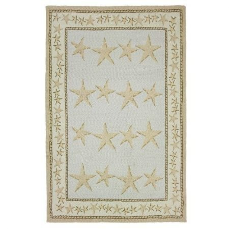 Homefires-Starfish-Toss-5-Feet-by-7-Feet-Indoor-Hand-Hooked-Area-Rug-0-450x450 Beach Rugs and Beach Area Rugs