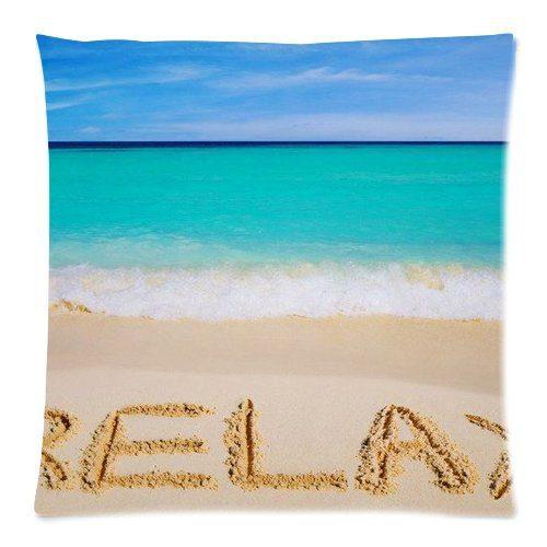 Aqua Teal Blue Mint Coastal Beach Pillow Cases