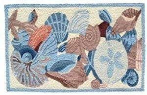 Jellybean-Shells-And-Coral-Accent-Area-Rug-0-300x194 Coastal Rugs & Coastal Area Rugs