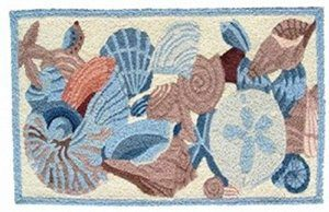 Jellybean-Shells-And-Coral-Accent-Area-Rug-0 Beach Rugs and Beach Area Rugs