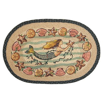 Mermaid-Starfish-Novelty-Rug-Rug-Size-Oval-18-x-26-0 100+ Mermaid Home Decor Ideas
