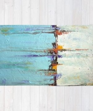Nautical Area Rug White And Blue Home Decor Abstract Seascape 0 300x360