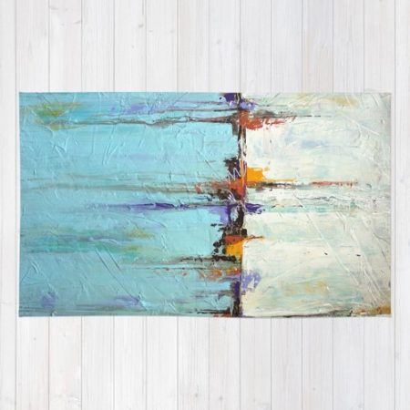 Nautical-Area-Rug-White-and-Blue-Home-Decor-Abstract-Seascape-0-450x450 Beach Rugs and Beach Area Rugs