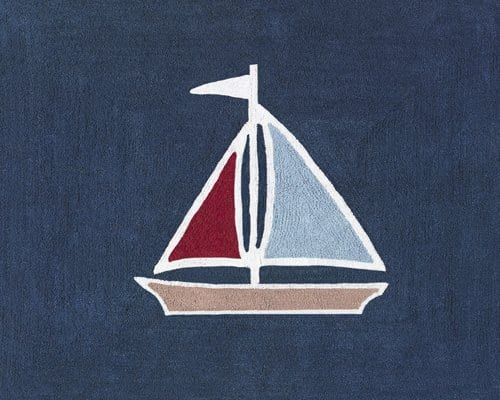 Nautical-Nights-Sailboat-Accent-Floor-Rug-by-Sweet-Jojo-Designs-0 Beach Rugs and Beach Area Rugs