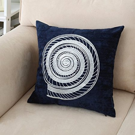 Ocean-Park-Beach-Theme-Decorative-Throw-Pillow-Cover-Corduroy-Sea-Animal-Embroidery-Waist-Throw-Cushion-Cover-for-Couch-Chair-for-Travel-Unique-Gifts-Navy-17x17-Inches-0-450x450 Nautical Pillows and Nautical Throw Pillows