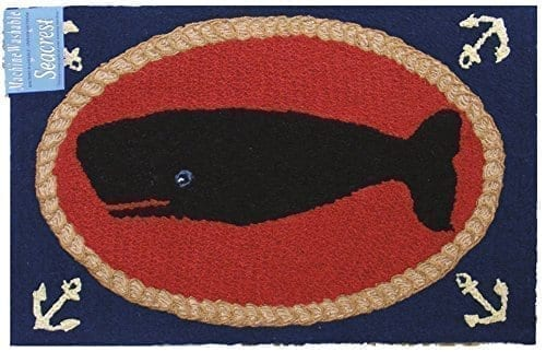 Outdoor-Rugs-Kitchen-Rugs-Area-Rugs-or-Door-Mats-Nautical-Decor-2-ft-x-3-ft-Whale-0 Beach Rugs and Beach Area Rugs