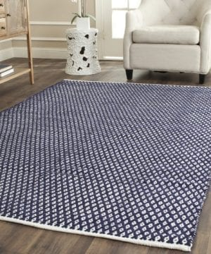 Safavieh-Boston-Collection-BOS685D-Handmade-Navy-Cotton-Area-Rug-4-feet-by-6-feet-4-x-6-0-300x360 200+ Nautical Rugs and Nautical Area Rugs